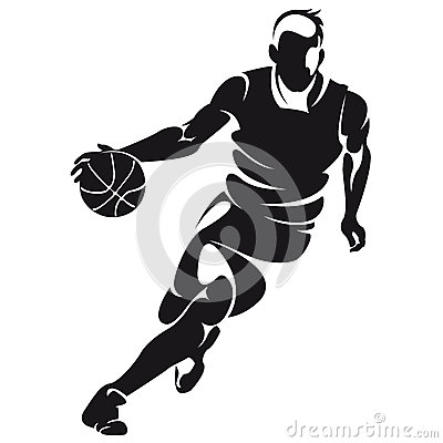 Free Basketball Player, Silhouette Stock Image - 35178991