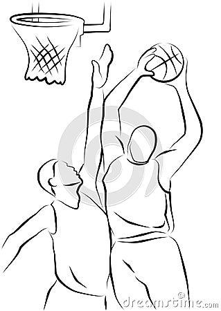 Basketball Players Royalty Free Stock Image Image 18196106