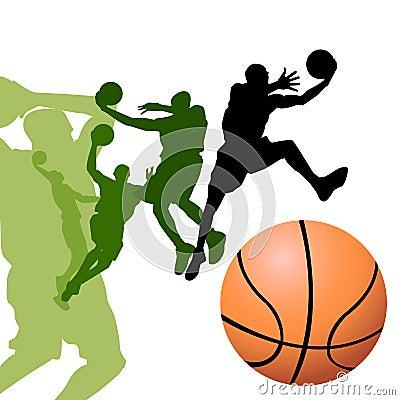 Free Basketball Players Royalty Free Stock Photo - 9765215