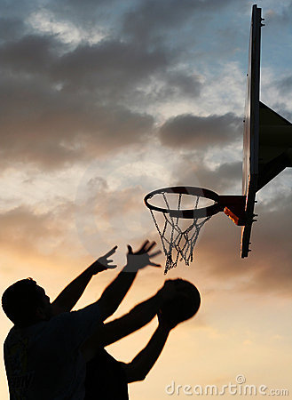 Free Basketball Players In Action Royalty Free Stock Photos - 4668988