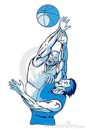 Basketball Rebound Blue Stock Images - Image: 2564284