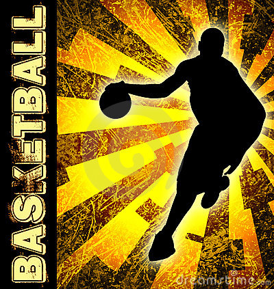Free Basketball Season Flyer Royalty Free Stock Image - 13147966