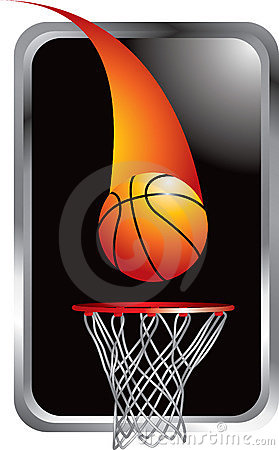 Free Basketball Shot Going Into Hoop Royalty Free Stock Photography - 9686857