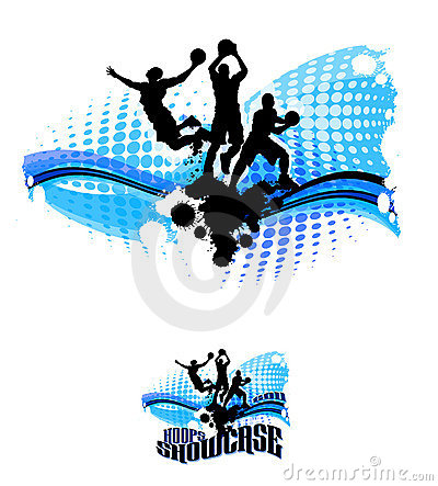 Basketball Silhouettes Abstract Illustration