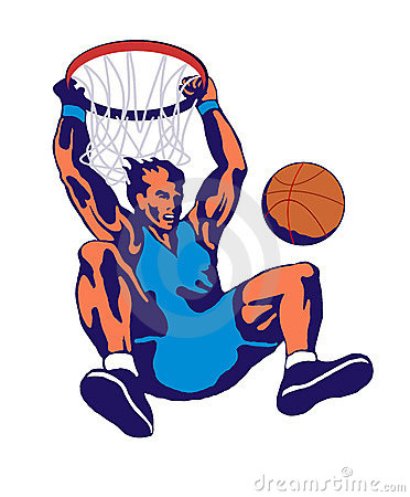 Free Basketball Slam Dunk Hoop Stock Photos - 2389773