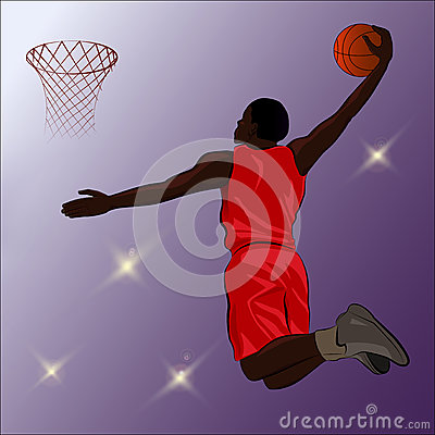 Basketball Slam Dunk - Illustration