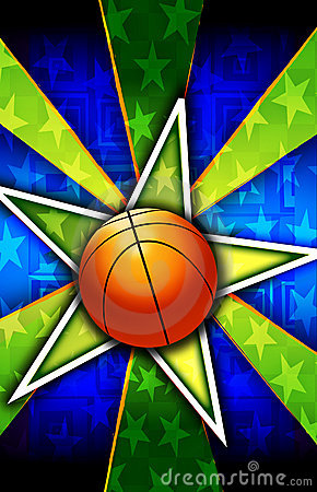 Basketball Star Burst Green