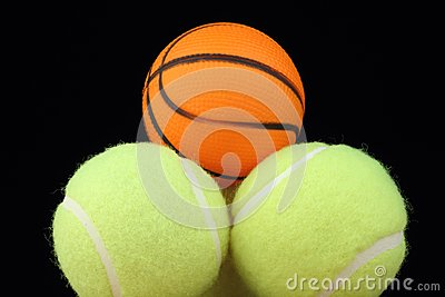 Basketball on tenis balls