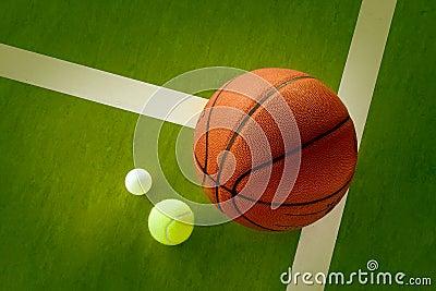 A Basketball A Tennis Ball And A Ping Pong Ball Stock