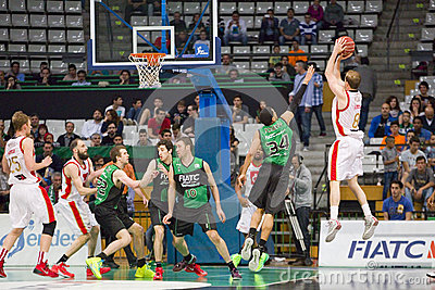 Basketball three points shot