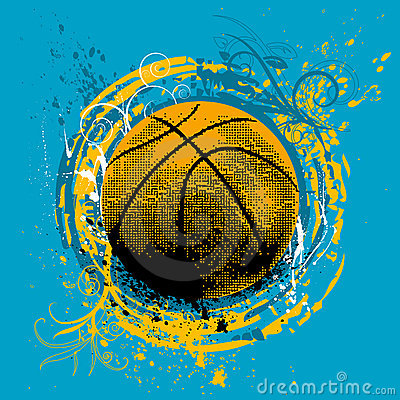 Free Basketball Vector Royalty Free Stock Photography - 6752637