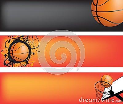 Basketball Web Banner Set Stock Images - Image: 14798994