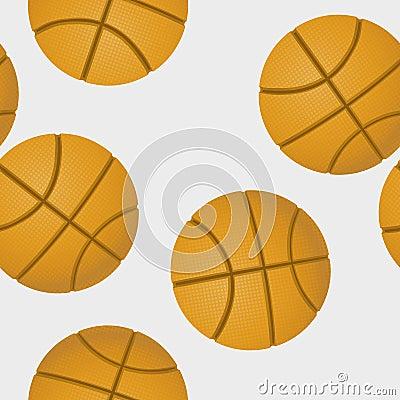Basketballs pattern