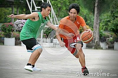 Basketballspiel Redaktionelles Stockbild