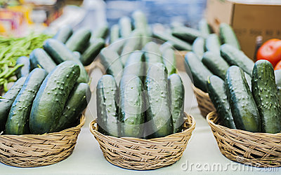 Baskets of Cucumbers