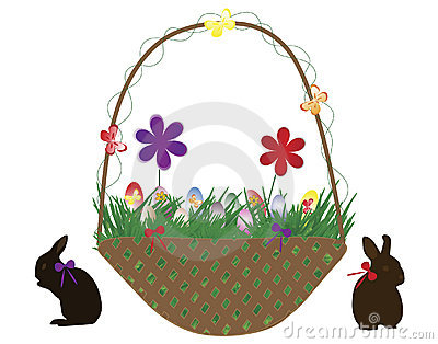 Baskets with eggs