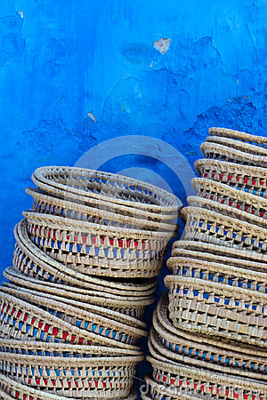 Free Baskets In Chefchaouen Royalty Free Stock Images - 98714929