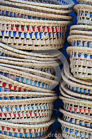 Free Baskets In Chefchaouen Stock Photography - 98714932