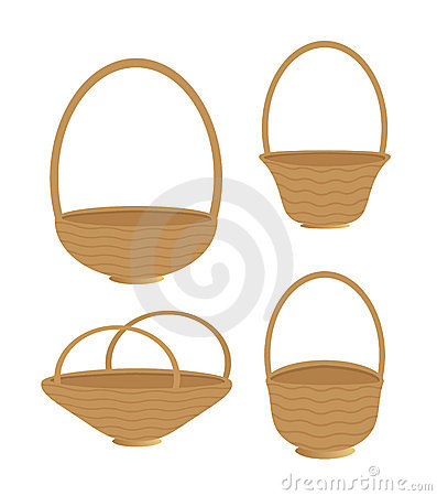 Baskets isolated
