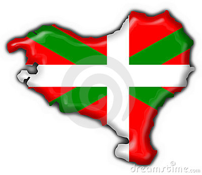 Basque button flag map shape