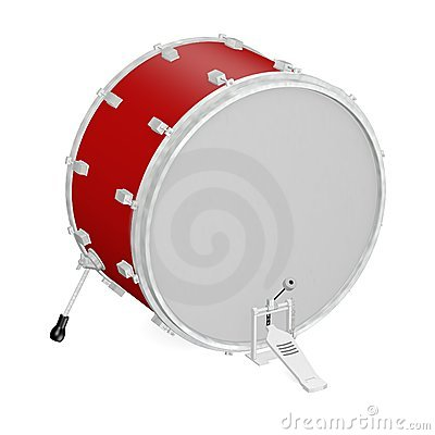 Bass drum with pedal