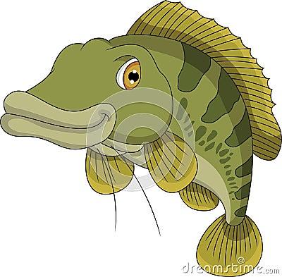 Bass fish cartoon