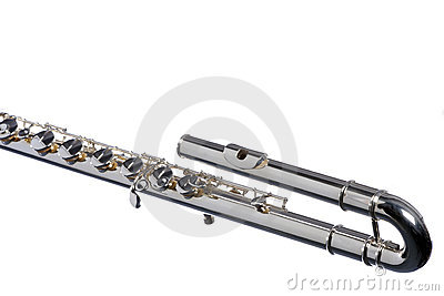 Bass Flute Isolated On White
