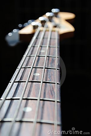 Free Bass Guitar Neck Royalty Free Stock Photography - 17405637
