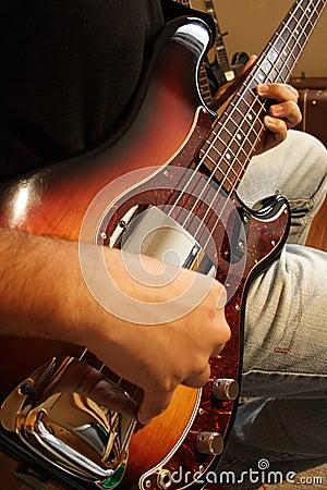 Bass Guitar Player Practice