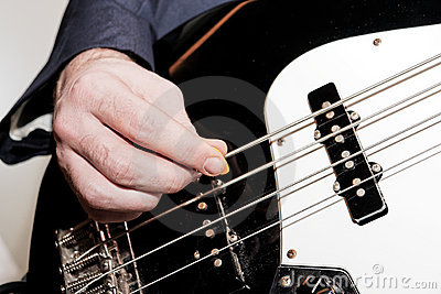 Bass Player Close up