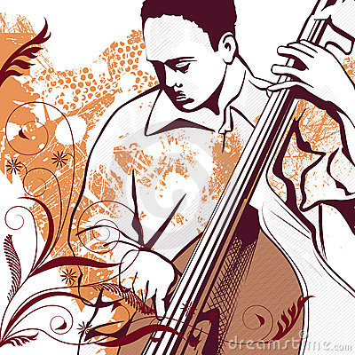 Free Bass Player Grunge Background Stock Photo - 6267980