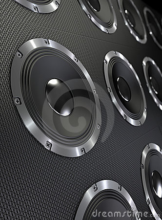 Bass Speakers Background Royalty Free Stock Image - Image ...