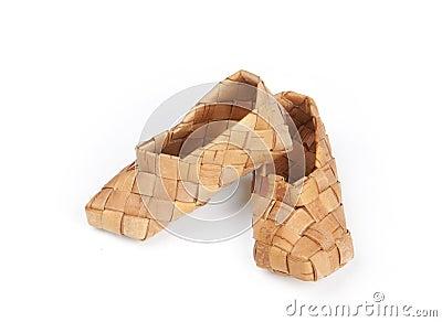 Bast shoes, isolated