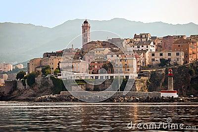 Bastia, Corsica panoramic view