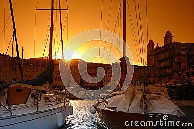 Bastia  harbor corsica