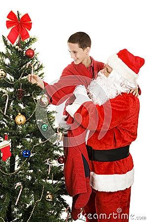 Bastón de caramelo para Santa