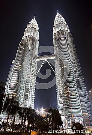 Basztowy Kuala bliźniak Lumpur Petronas