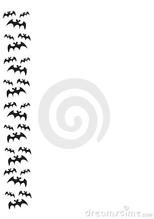 Bat border on white