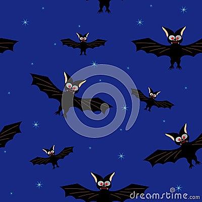 Bat in a dark blue sky