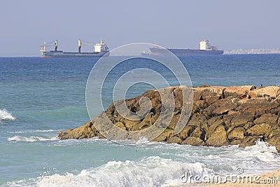 Bat Galim Beach in Haifa Editorial Stock Image