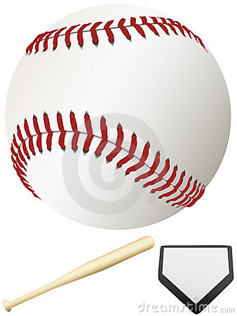 Free Bat Home Plate & Major League Baseball Stock Images - 4017464