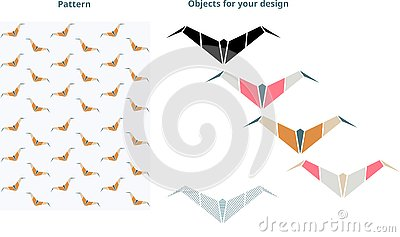 Bat pattern. Perfect for your design. Stock Photo