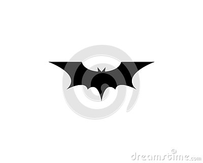 bat vector icon Vector Illustration