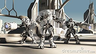 Bataille étrangère Droids