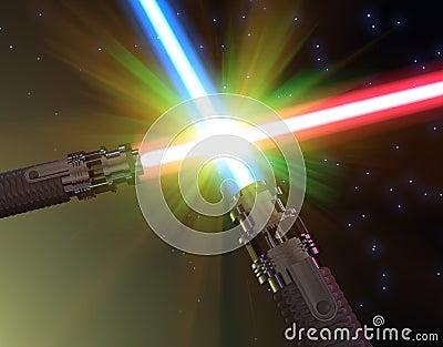 Bataille avec les sabres légers