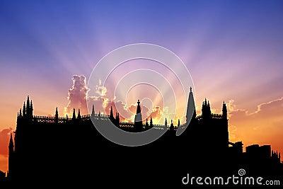 Batalha Monastery sunset
