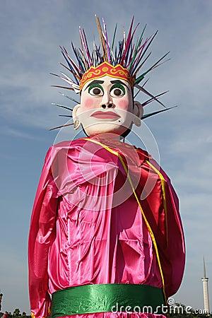 Batavia puppet (ondel-ondel) Editorial Image