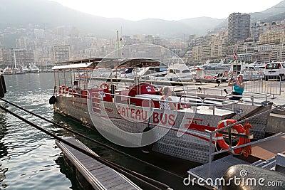 Bateau bus in Monaco . Editorial Image