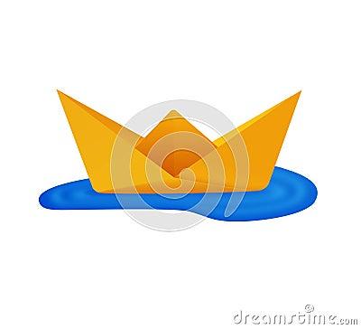 bateau de papier origami photographie stock image 13082642. Black Bedroom Furniture Sets. Home Design Ideas
