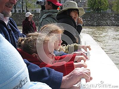 Bateaux Mouches River Cruise Paris Editorial Image